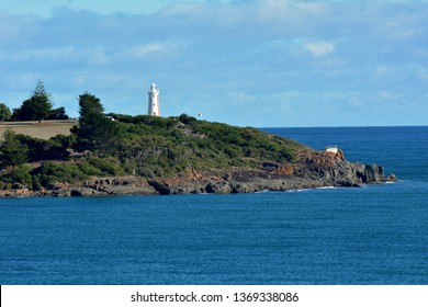 Mersey Bluff Lighthouse at the mouth of the Mersey River in Devonport Tasmania, Australia.