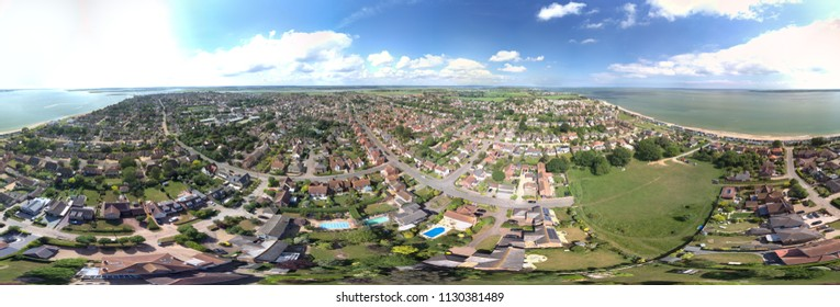 Mersey Island Aerial views, Essex - panoramic