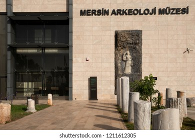MERSIN CITY, TURKEY, OCTOBER 15, 2018; Mersin Archeology Museum, Mersin The city museum, where ancient monuments are exhibited. A total of 1,435 works are exhibited in the museum