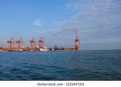 Mersin Sahil Liman, Mersin / Turkey - 2018 December: The Mersin Sahil Limani Port