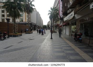 "Mersin, Turkey 10-01-2018: travel Walking the streets of Mersin (bazaar, mall of mersin , ""forum mersin"" and  merit tower)"