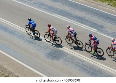 "Mersin, Turkey - April 17, 2016 : Cycling Race "" 2. INTERNATIONAL TOUR OF MERSIN """