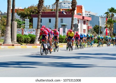 """Mersin, Turkey - April 22, 2018: Cycling Race """"INTERNATIONAL TOUR OF MERSIN""""  """"Editorial use only"""""""