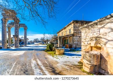 Mersin, Turkey - January 14, 2015 : The Monumental City Gate of ( Uzuncaburc ) Ancient City in Mersin Province