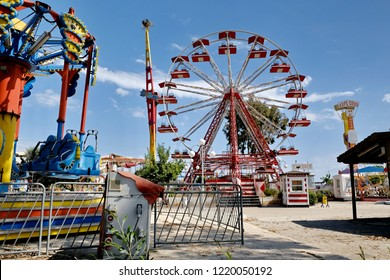 Mersin,Turkey - May 19,2017 : Fun fair in Mersin  Turkey
