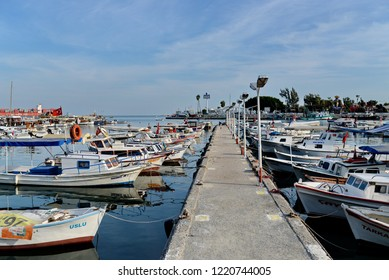 Mersin,Turkey - May 19,2017 : Mersin port and Marina