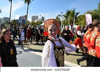 Mersin,Turkey - November 17,2018 : Mersin Citrus festival and carnival