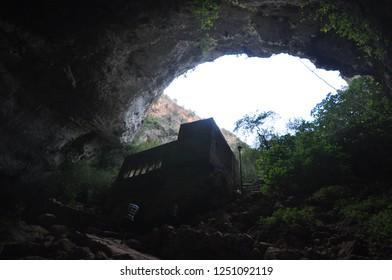 Mersin,Turkey -September  3,2011 : Cave of Heaven and Hell in Mersin