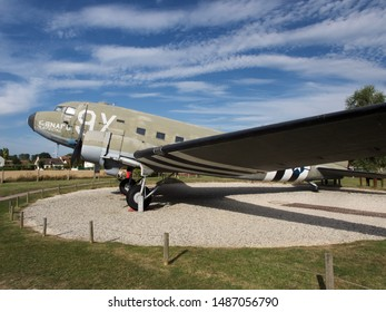 Merville sur mer, france, 24/08/2019 - Battery de merville, C47 Dakota aircraft of US army used on d-day operation overloard