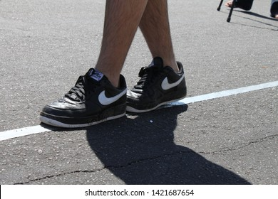 Mesa, Ariz. / US - September 6, 2010: To check their sobriety, Mesa and Gilbert police officers ask drivers suspected of being intoxicated to walk a straight line during a joint Labor Day event. 7791