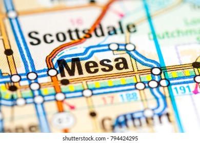 Mesa Arizona Map Stock Photos, Images & Photography | Shutterstock