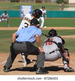 MESA, AZ - OCTOBER 17: Jarek Cunningham, a Pittsburgh Pirates prospect, bats for the Mesa Solar Sox in an Arizona Fall League game Oct. 17, 2011 at HoHoKam Stadium. Cunningham belted two homers.
