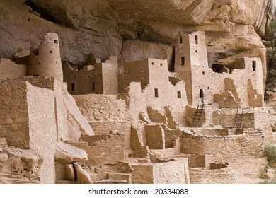Mesa Verde is a National Park in southern Colorado renown for its Indian Cliff Dwellings. Cliff Palace is the  largest cliff dwelling in North America.