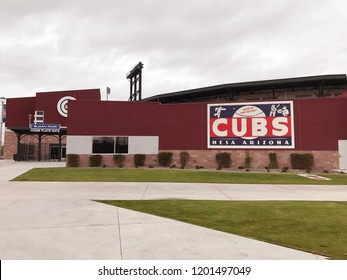 Mesa,AZ/USA - 10.12.17 Sloan Park is a baseball stadium in Mesa, Arizona opened in 2014. The primary operator is the Chicago Cubs and the ballpark serves as their spring training home.