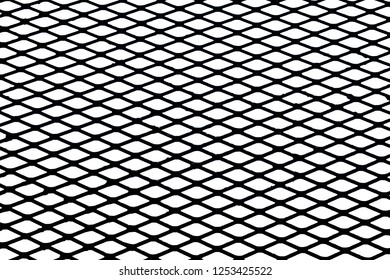 Mesh fence background.Grid iron grates, Grid pattern, steel wire mesh fence wall background, Chain Link Fence with White Background.