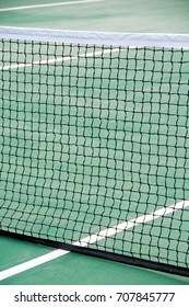 Mesh on the tennis court. Great tennis background.
