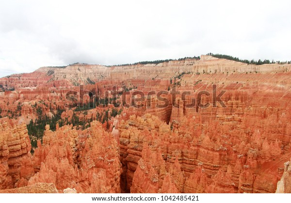 Mesmerizing immensity of Bryce Canyon National Park Horizon. Mystic Hoodoos standing out sharply in a seamlessly endless range. Utah, USA.