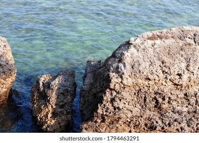 A mesmerizing shot of beautiful seascape and rocks at daytime