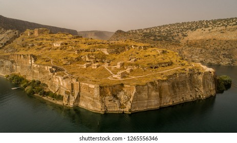 Mesopotamia Greek Castle Euphrates old settlement autumn aerial Buy Amazing astonishing wonderful landscape shot from different perspective angles.