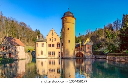 The Mespelbrunn water Castle  in Mespelbrunn, Bavaria, Germany