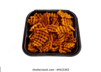 Mesquite Barbeque Waffle Isolated on White Background