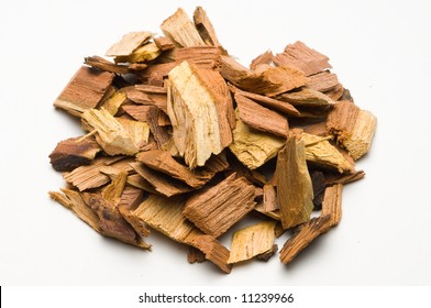 Mesquite chips add flavor to barbecue or barbeque