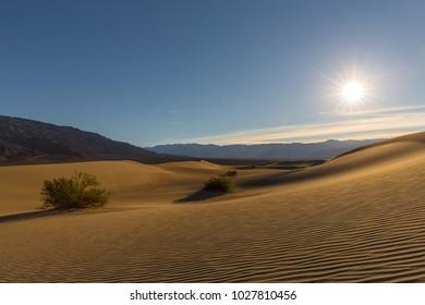 Mesquite Flat Sand Dunes, Death Valley.