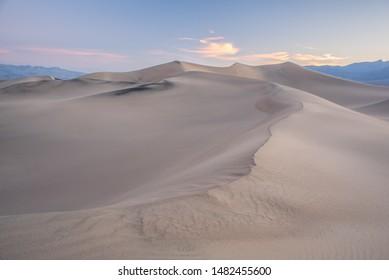 Mesquite Flat Sand Dunes At Sunrise