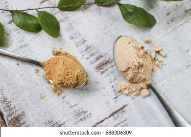 Mesquite and Lucuma Superfood Powder. Top view