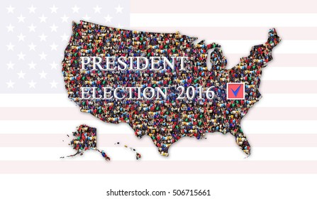 Appeal Vote On Presidential Election Map Stock Photo (Edit Now ...