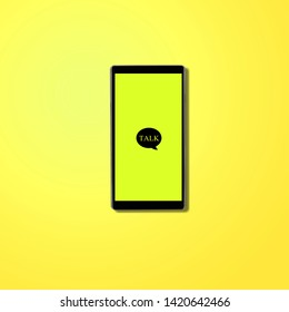 Message app KAKAO TALK logo on smartphone screen.          - Image
