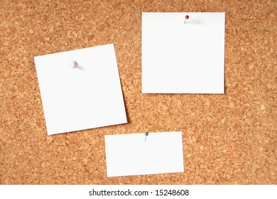 Message board with three blank cards
