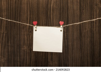 Message boards on a wooden background