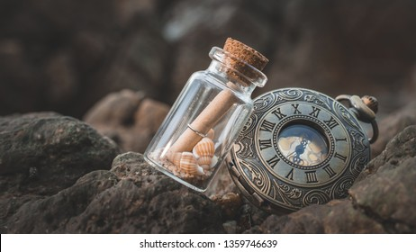 Message In Bottle With Watch