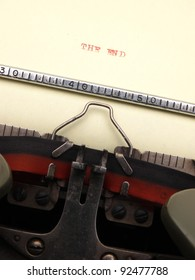 Message on typing machine
