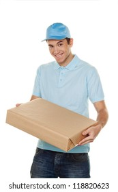 a messenger delivered by courier service parcel post