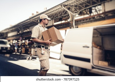 Messenger Delivering Parcel