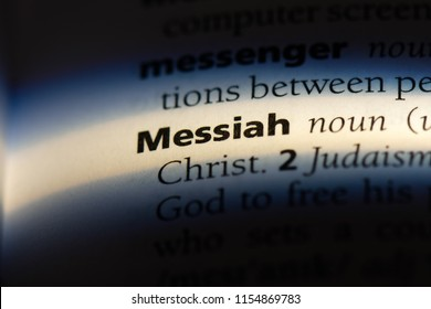 messiah word in a dictionary. messiah concept.