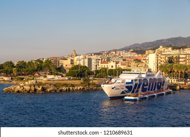 MESSINA, ITALY - JULY 11, 2017:  Messina in Italy in a beautiful summer day