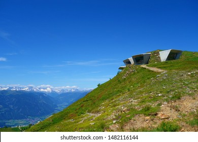 Messner Mountain Museum, Plan de Corones mountain: Modern structure, created by Reinhold Messner, designed by Zaha Hadid,and dedicated to mountaineering & climbing, South Tyrol, Italy