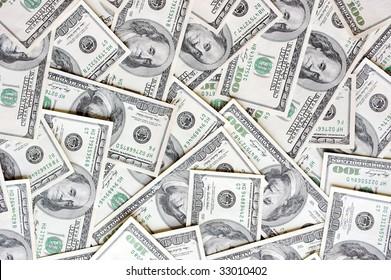 Messy dollar bill wallpaper