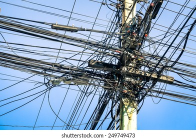 india street wires images stock photos vectors shutterstock rh shutterstock com India Electricity India Electrical Power