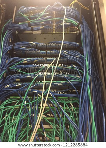 Peachy Messy Network Cabling Switch Router Cabinet Stock Photo Edit Now Wiring 101 Mecadwellnesstrialsorg