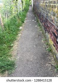 Messy/dirty alleyway, Sudbury, Suffolk