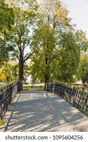 Mestsky or City park in Kosice Old Town, Slovakia. Kosice was the European Capital of Culture in 2013. - Shutterstock ID 1095604256