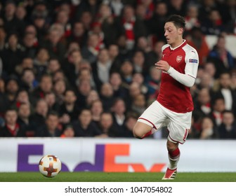 Mesut Ozil of Arsenal during the Europa League match between Arsenal and AC Milan at The Emirates Stadium on March 15, 2018 in London, United Kingdom.