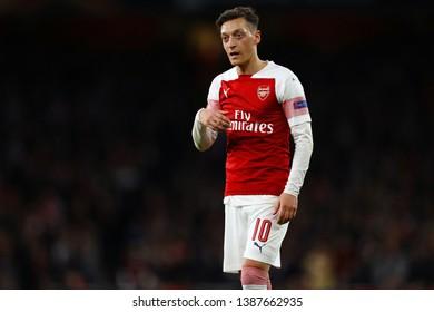 Mesut Ozil of Arsenal - Arsenal v Valencia, UEFA Europa League Semi Final - 1st Leg, Emirates Stadium, London (Holloway) - 2nd May 2019