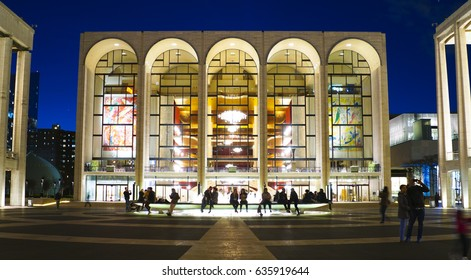 MET - The Metropolitan Opera at Lincoln Center in Manhattan- MANHATTAN / NEW YORK - APRIL 1, 2017