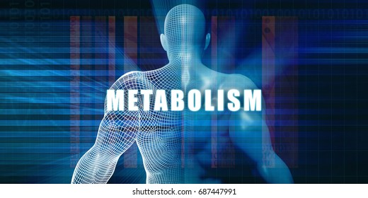 Metabolism as a Futuristic Concept Abstract Background 3D Illustration Render