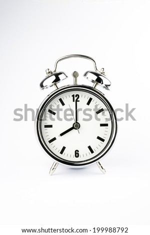 metal alarm clock wake time 8 stock photo edit now 199988792 Alarm Clock Black metal alarm clock wake up time 8 am on white background